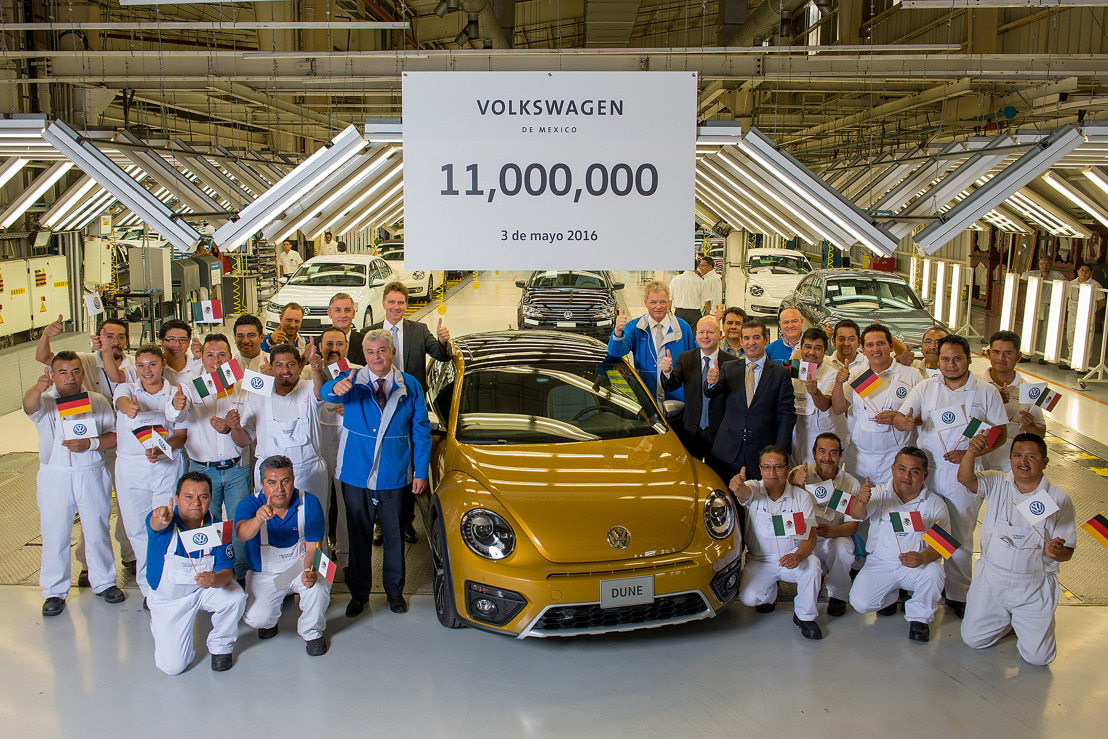 Volkswagen de México produce 11 millones de vehículos