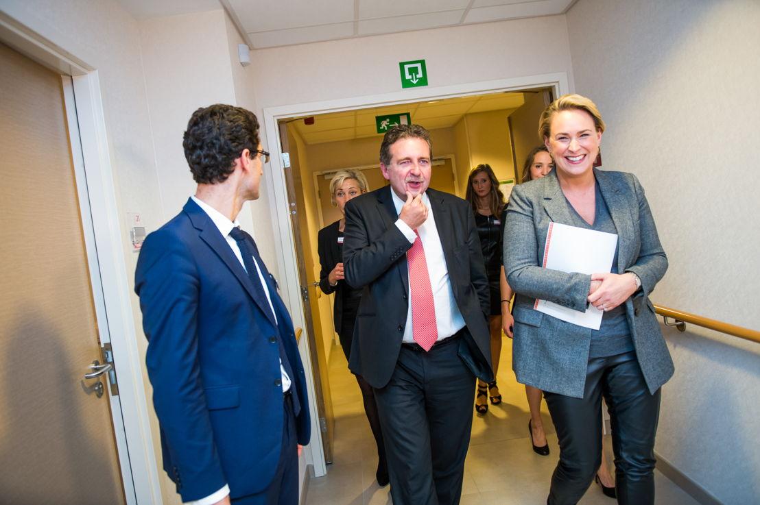 De inhuldiging gebeurde in het bijzijn van Brussels minister-president Rudy Vervoort en Brussels minister van Levenskwaliteit en Huisvesting