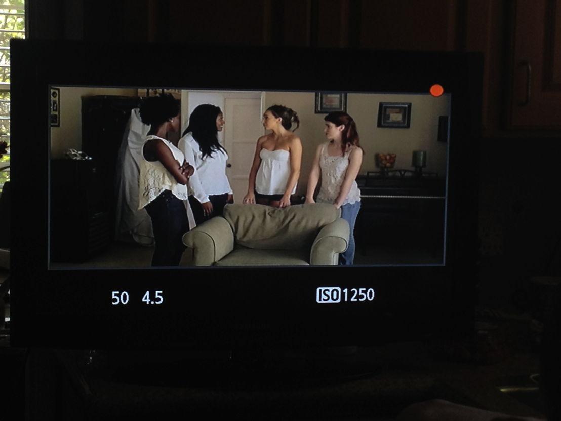 Scene 1 through the monitor.