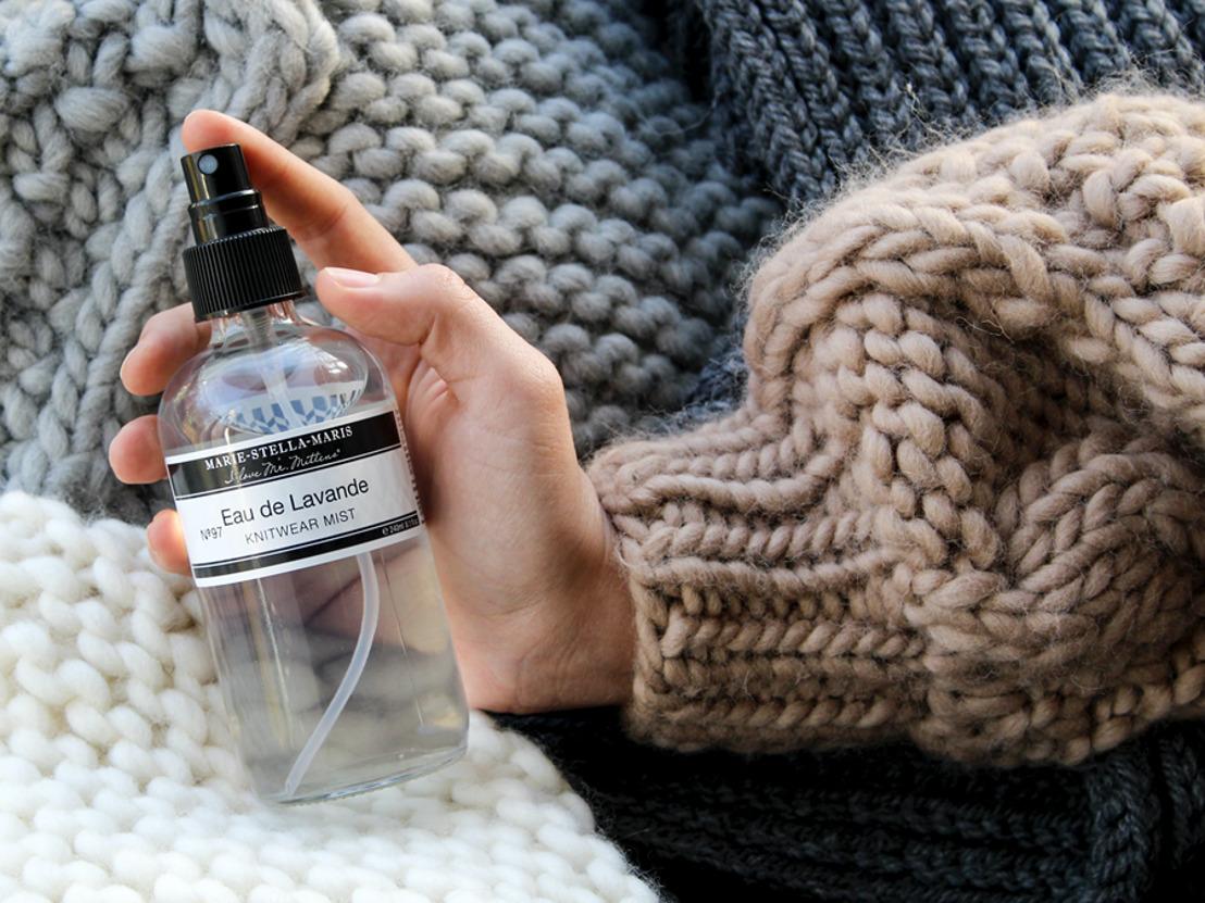 Marie-Stella-Maris et I Love Mr. Mittens présentent Eau de Lavande : une nouvelle brume parfumée pour les vêtements en laine