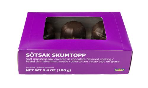 """IKEA roept SÖTSAK SKUMTOPP, zachte marshmallowcakejes (180 g) terug. Aanwezigheid van het allergeen """"melk"""" niet vermeld in de ingrediëntenlijst."""