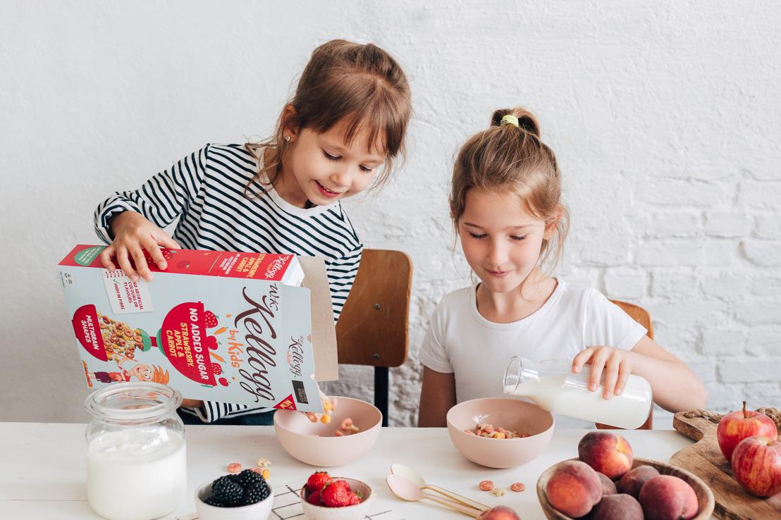 Kellogg's introduceert de eerste ontbijtgranen bedacht door kinderen, voor kinderen en het hele gezin