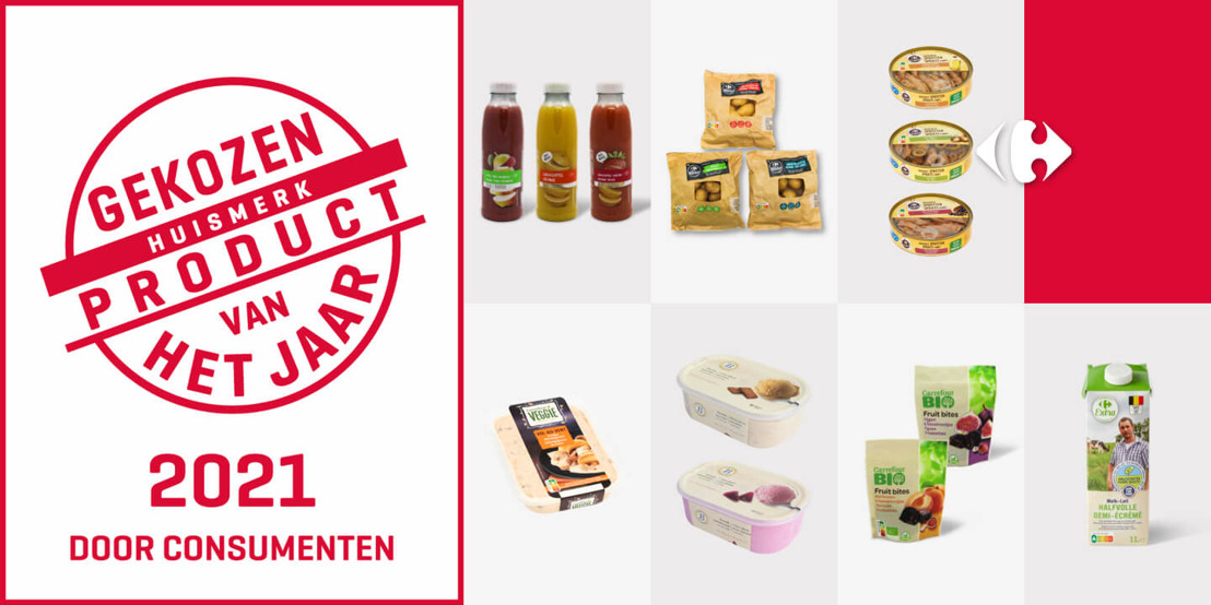 """7 Carrefour-producten gekozen tot """"Distributieproduct van het jaar 2021"""""""