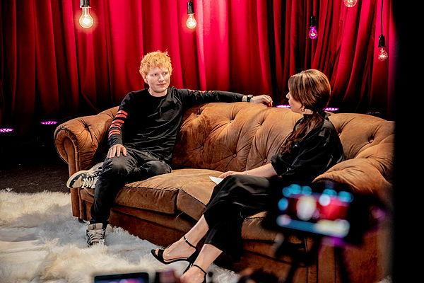 Ed Sheeran en Siska Schoeters © VRT