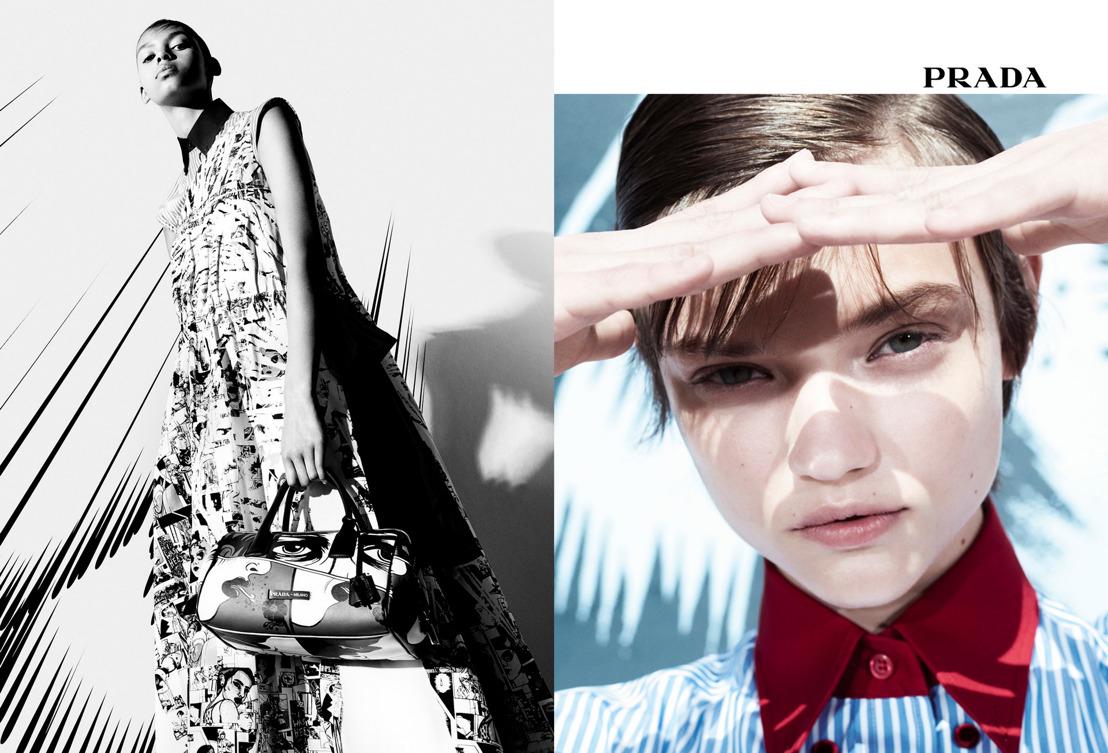 Campaña Publicitaria Womenswear Spring/Summer 2018 de Prada: Real Life Comix