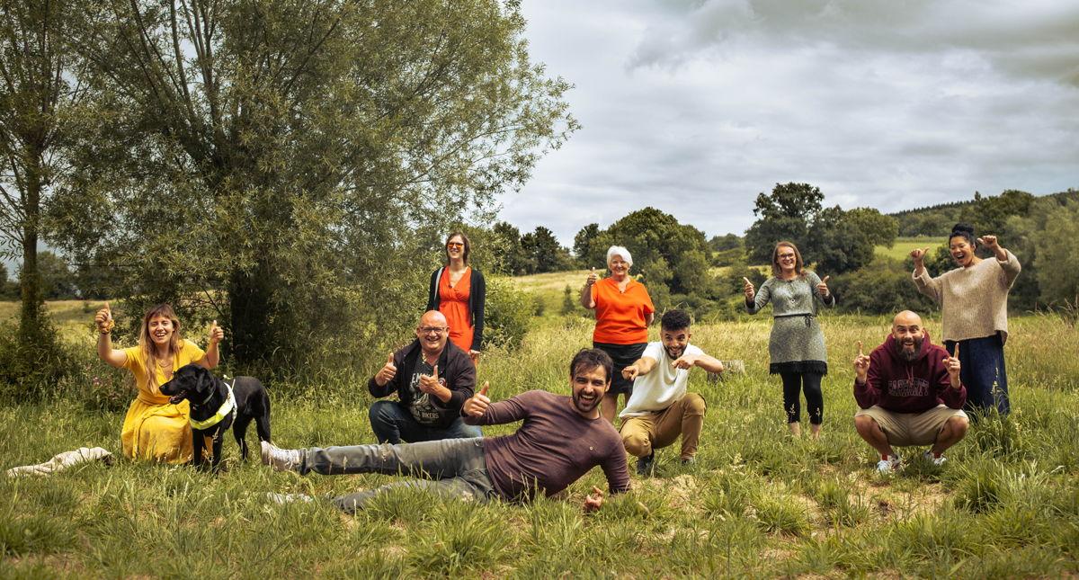 Flora, Pascal, Astrid, Joris, Maike, Anouar, Helga, Tijs en Sun Mee