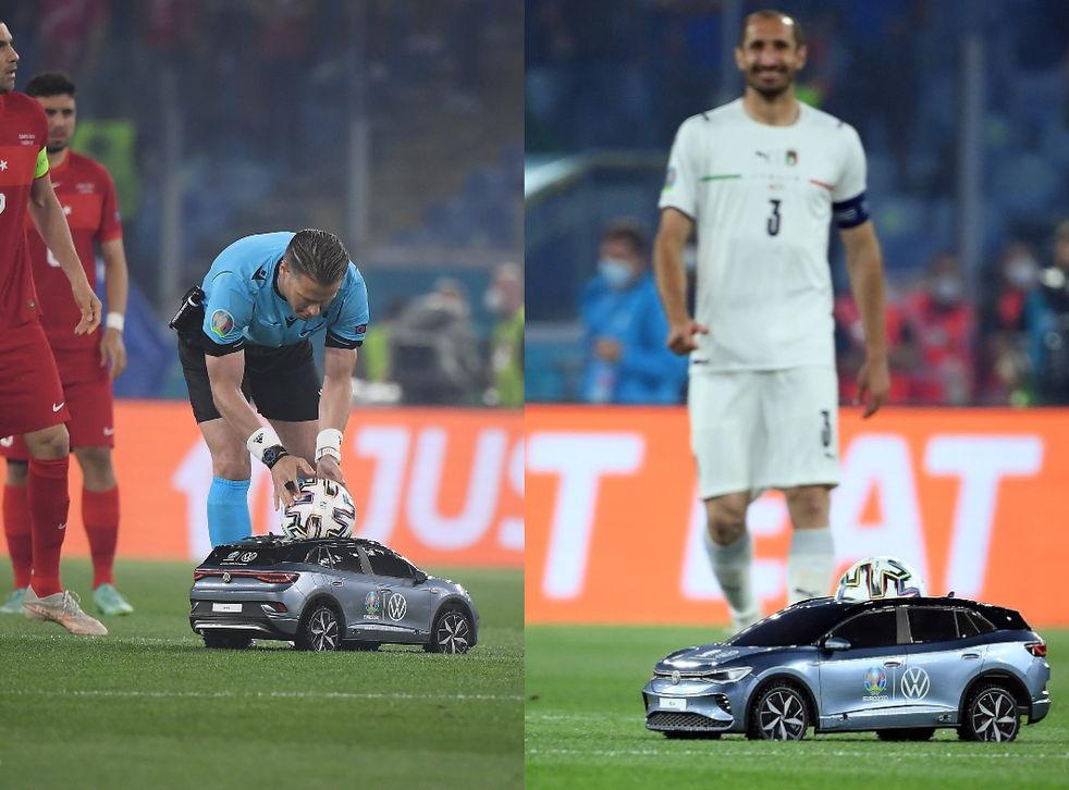 https://www.indy100.com/sport/euro-2020-little-car-matchball-b1864609