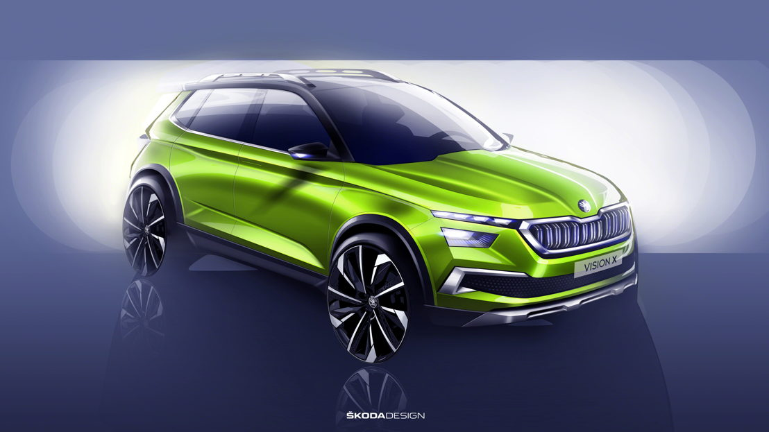 With the hybrid study ŠKODA VISION X, the Czech car manufacturer gives an outlook on the further development of their model range. The urban crossover concept transfers the characteristic features of the successful ŠKODA SUV models to another vehicle segment.