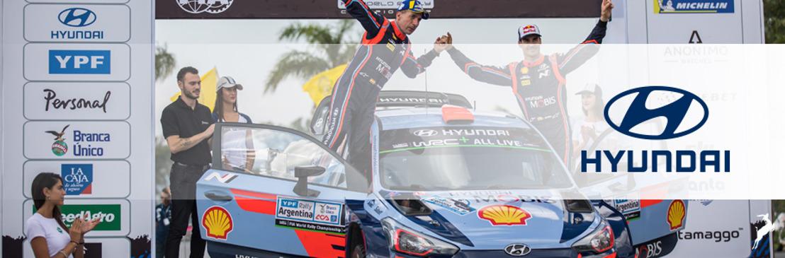 Hyundai Motorsport obtiene doble podio en el Rally de Argentina del World Rally Championship 2018