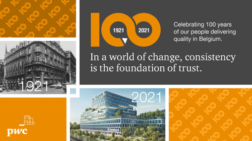 PwC turns 100 in Belgium