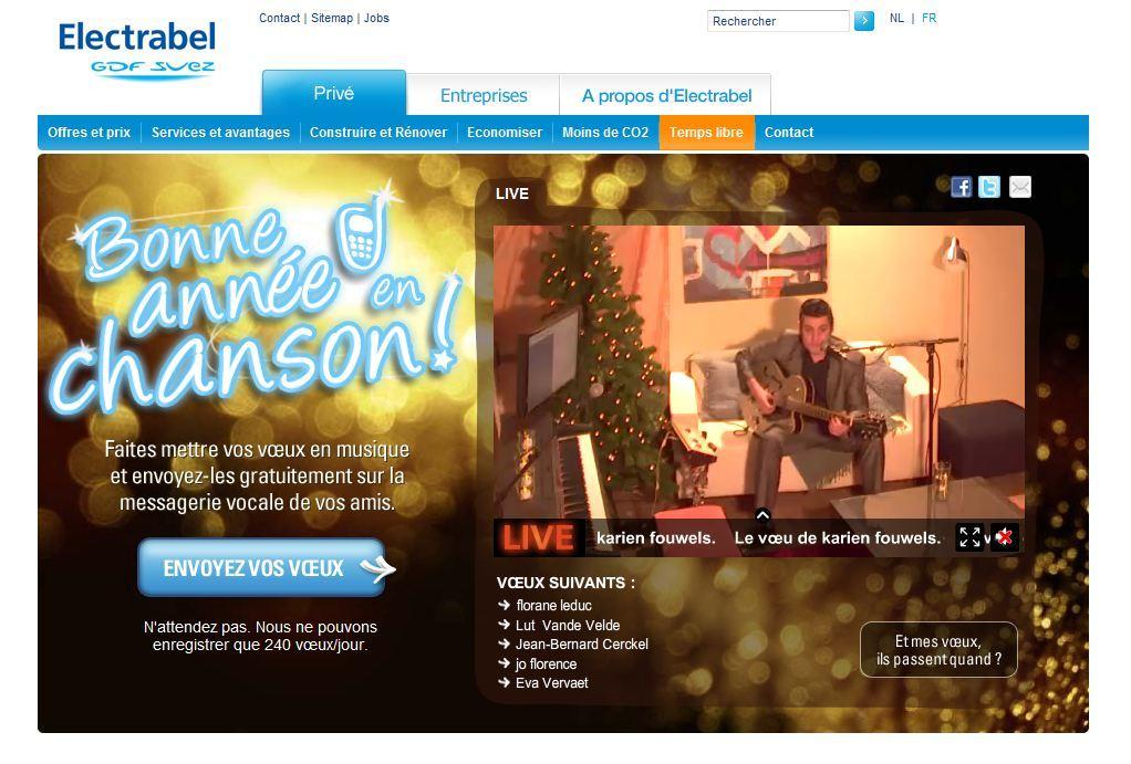 Boondoggle Campaign - Electrabel Bonne Année en Chanson