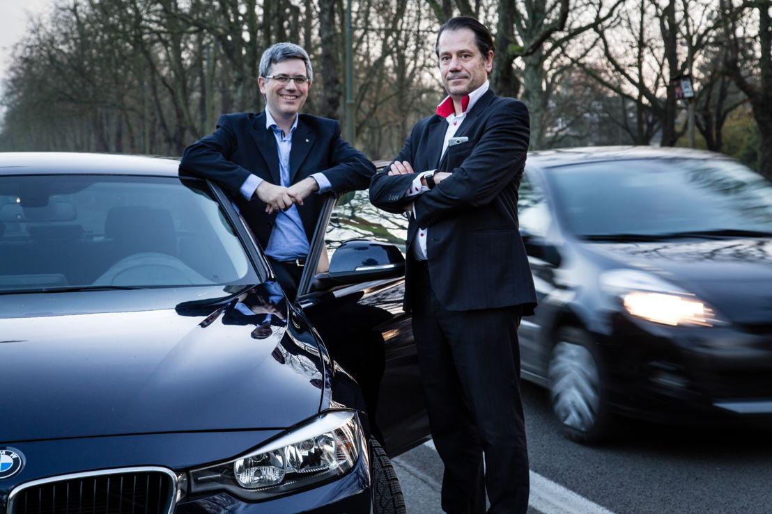 Alex Gaschard &amp; Laurent Baeke, fondateurs de CarAmigo. <br/>Copyright Kristof Vadino