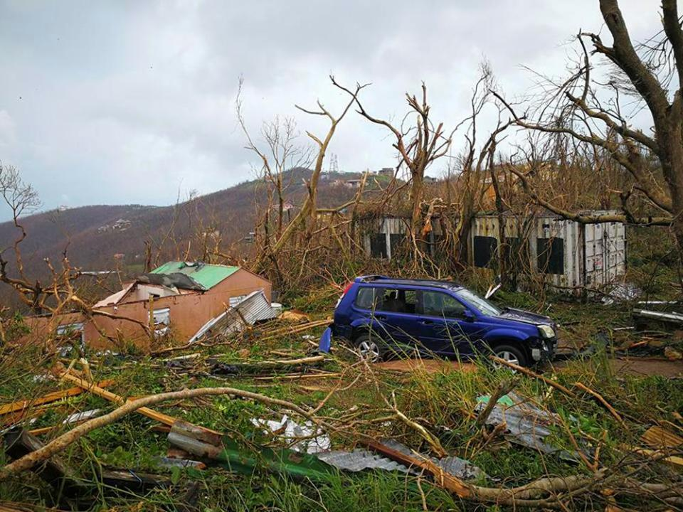 Storm damage after the passage of Hurricane Irma in Tortola, British Virgin Islands © AP
