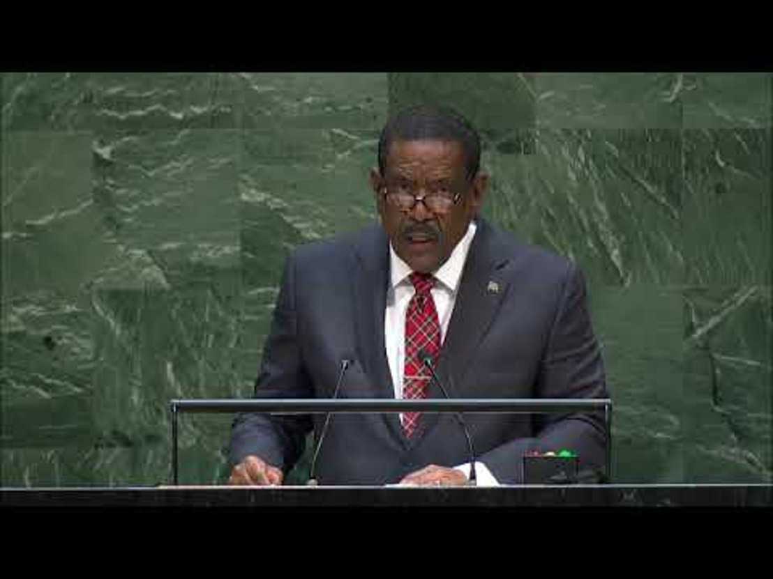 President of the Commonwealth of Dominica, H.E. Charles Savarin addresses the general debate of the 74th Session of the UN General Assembly