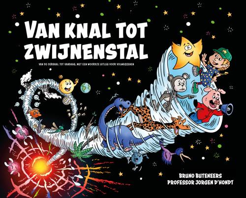 VUB-professor Jorgen D'Hondt en auteur Bruno Buteneers stellen kinderboek over oerknal en evolutie voor