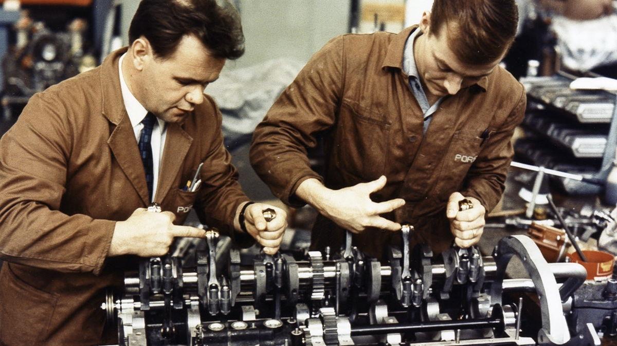 Valentin Schäffer y Gerhard Küchle (i-d), en 1969.