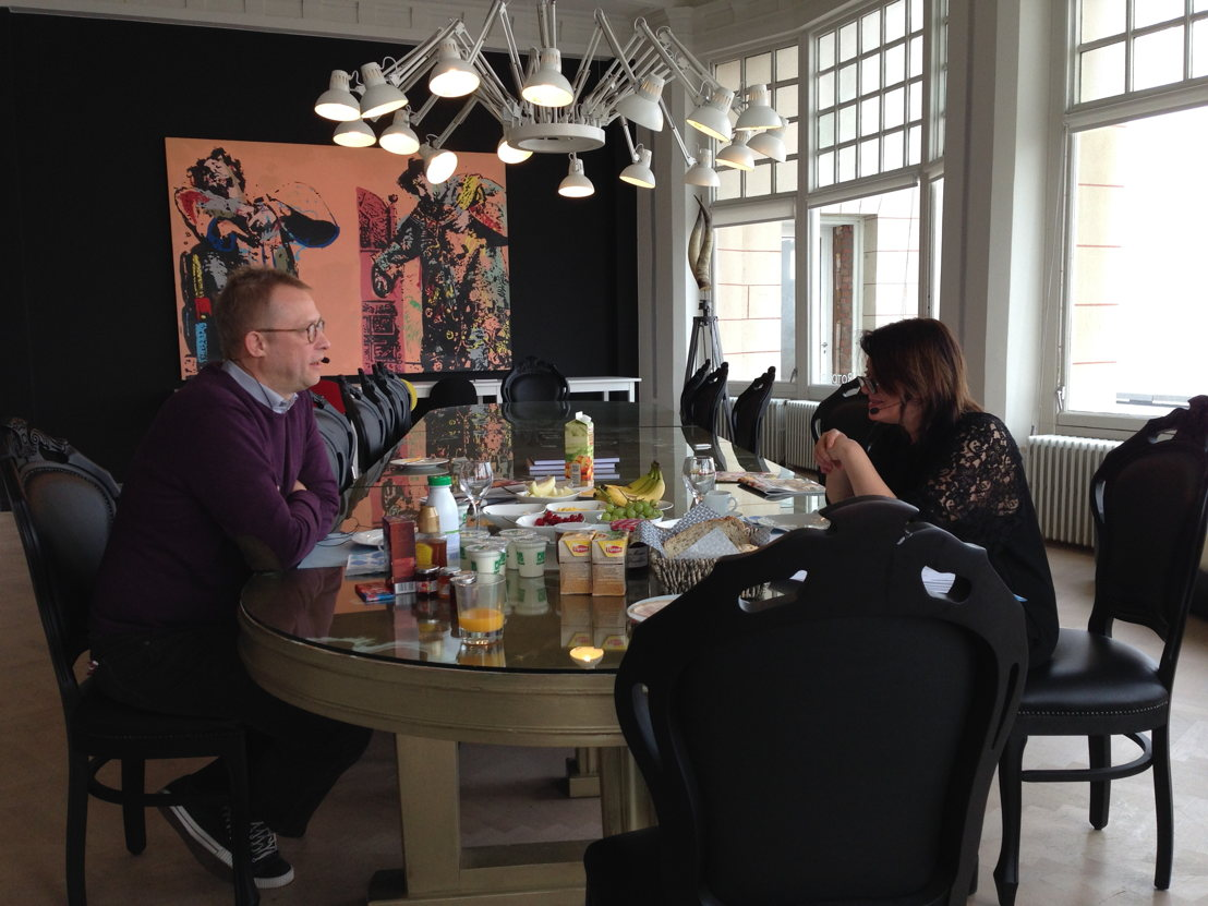 Ivan De Vadder en Christel Van Dijck in De Rotonde - (c) VRT-Radio 2
