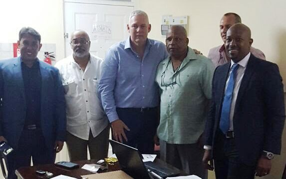 OECS Trade Mission meets with Prime Minister of St. Lucia, Hon. Allen Chastanet; OECS Director General, Dr. Didacus Jules; and other stakeholders.