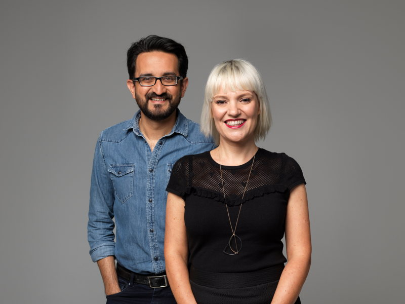 ABC Radio Melbourne Breakfast hosts Sami Shah & Jacinta Parsons