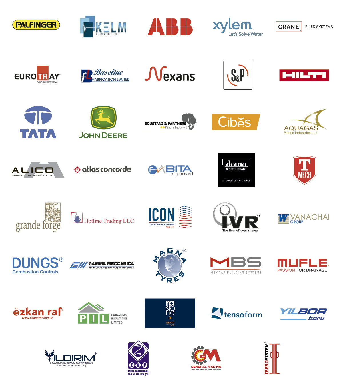 Some of the confirmed exhibitors at The Big 5 Construct Nigeria
