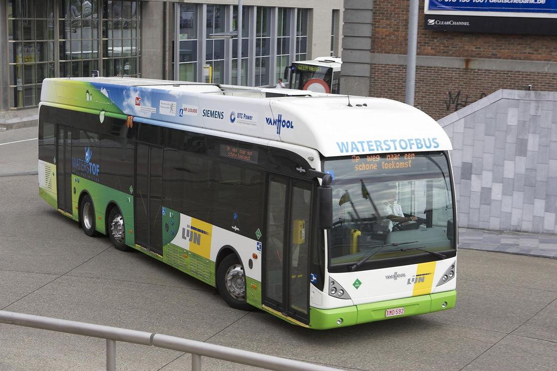 Een waterstofbus in Leuven.