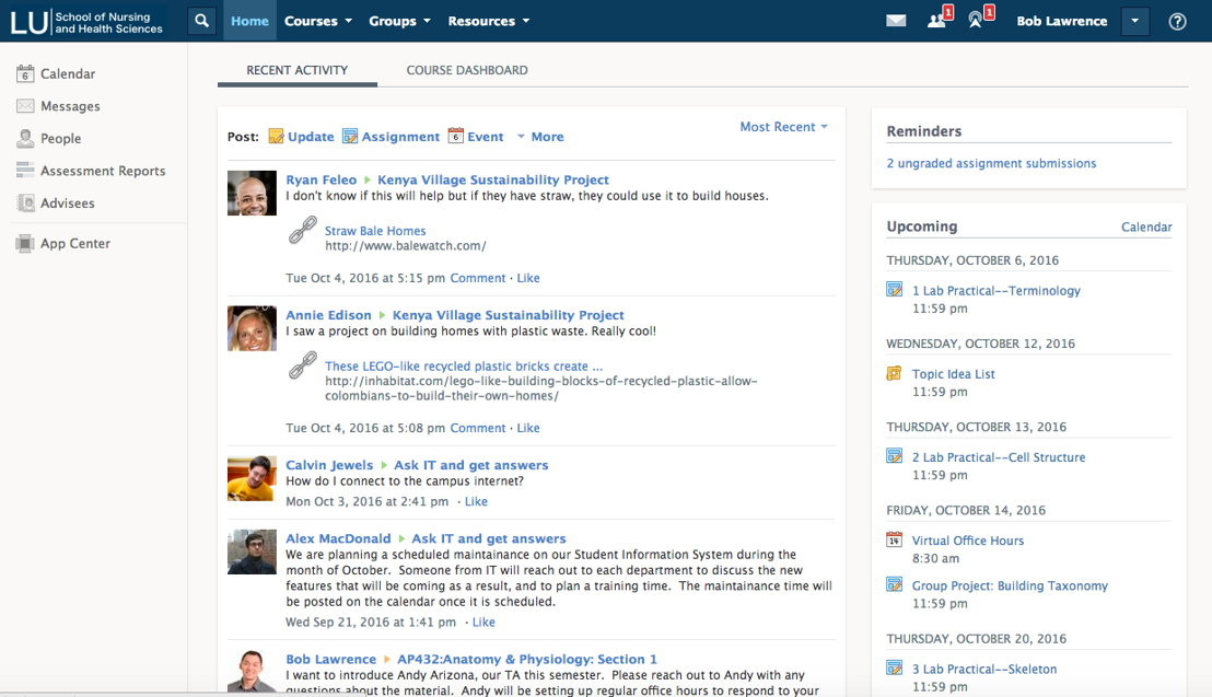Schoology is a comprehensive platform for communication, collaboration, and content management and delivery in higher education.
