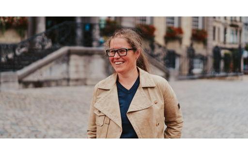 Verpleegkundige Ann Janssens, moeder van vier, trok haar stoute schoenen aan en volgt de bachelor Bouw in open hoger onderwijs