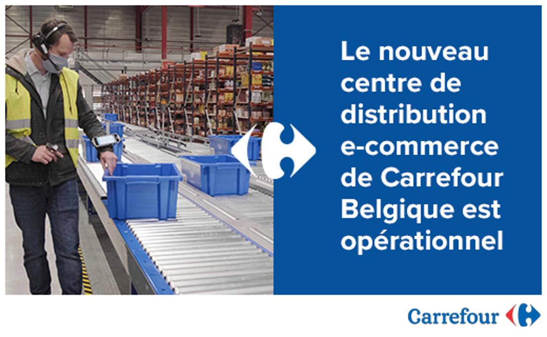 Le nouveau centre de distribution e-commerce de Carrefour Belgique est opérationnel