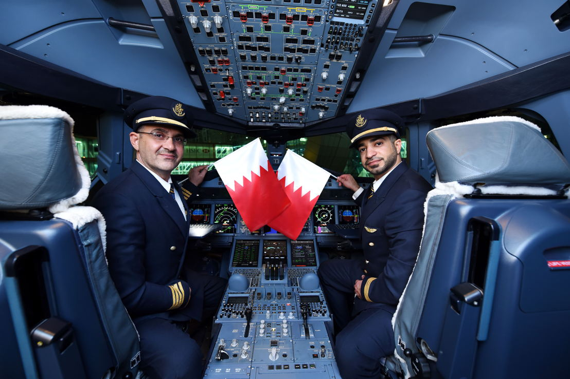 Emirates today operated a special one-off A380 service to Bahrain in celebration of the country's 46th National Day. The A380 one off service was proudly operated by Captain Hassan Alsaati and First Officer Jasim Alaskari, both Bahraini nationals.
