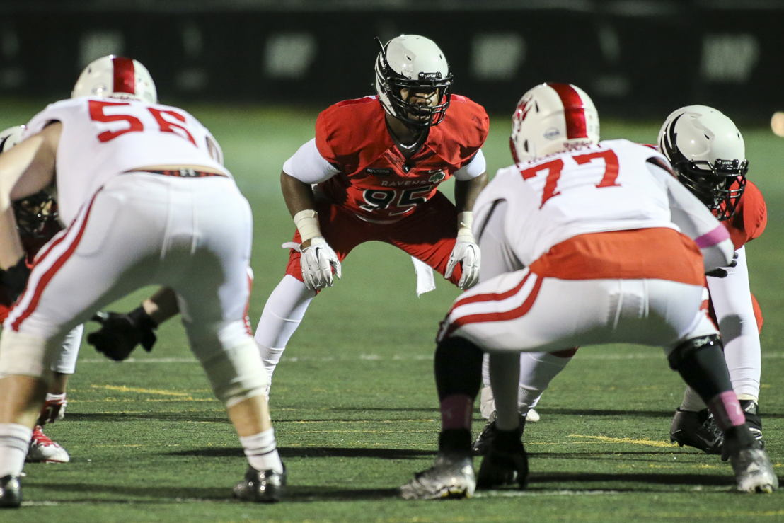 No. 8 DL Kene Onyeka Carleton (Photo Credit: Carleton University)