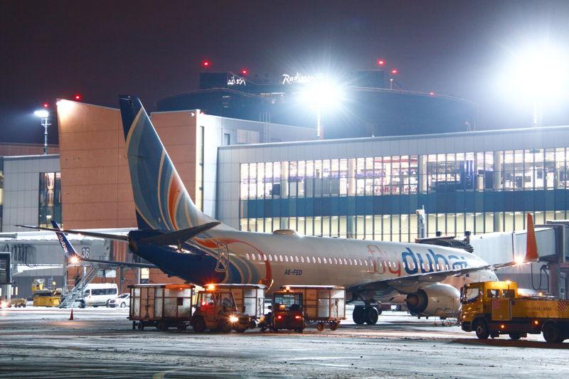 flydubai's inaugural flight to Sheremetyevo International Airport