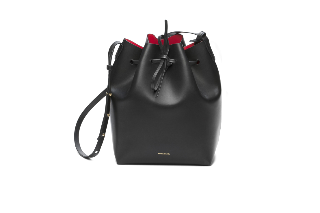 Mansur Gavriel Bucket Bag Black 615 euro at Graanmarkt 13