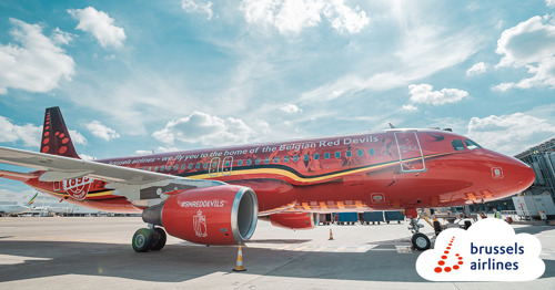 Brussels Airlines official airline of the Belgian Red Devils and Belgian Red Flames