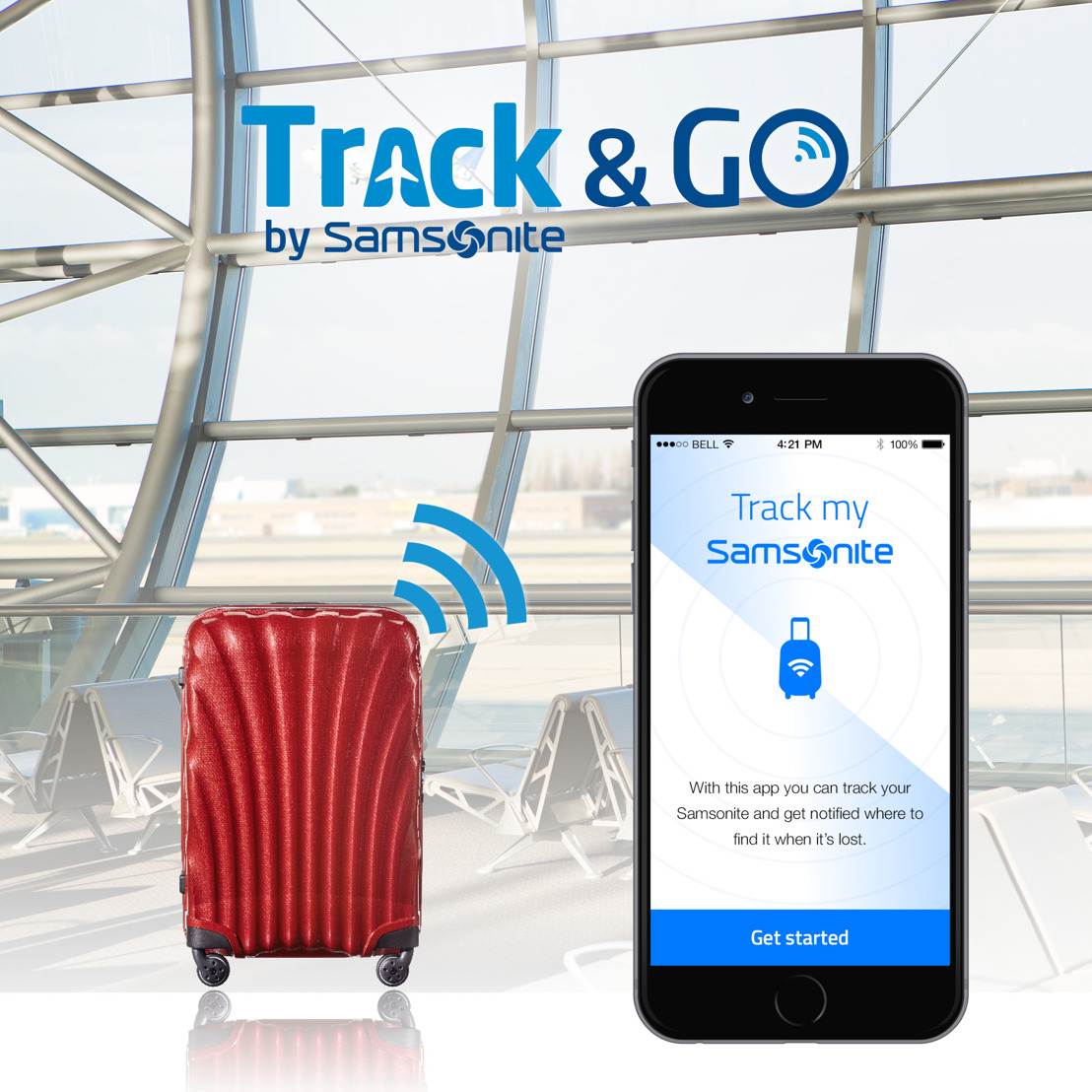 Samsonite werkt samen met Vodafone voor haar innovatieve bagage tracking oplossing Track&Go™