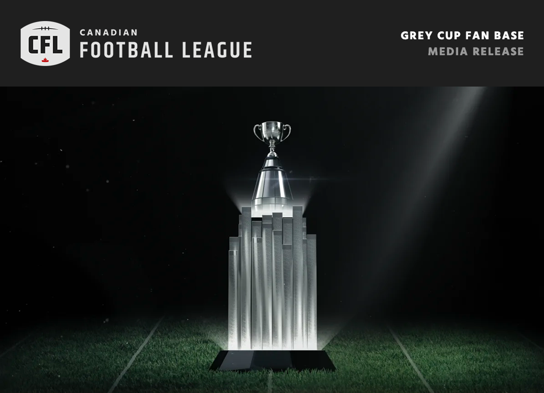 The Grey Cup Fan Base: Celebrating the fans that are our foundation and the icon that is the Grey Cup