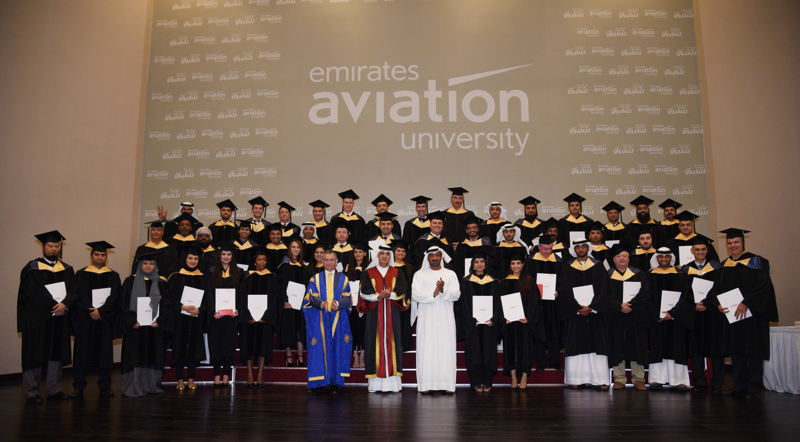 His Highness Sheikh Ahmed bin Saeed Al Maktoum, Chairman and Chief Executive Emirates Airline and Group awarded degrees across multiple disciplines with hundreds of family and friends in attendance.