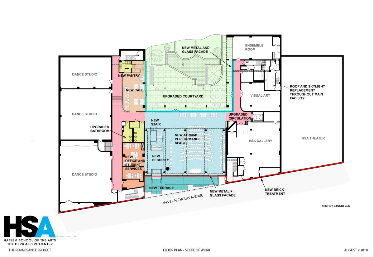 HSA floor plan / scope of work