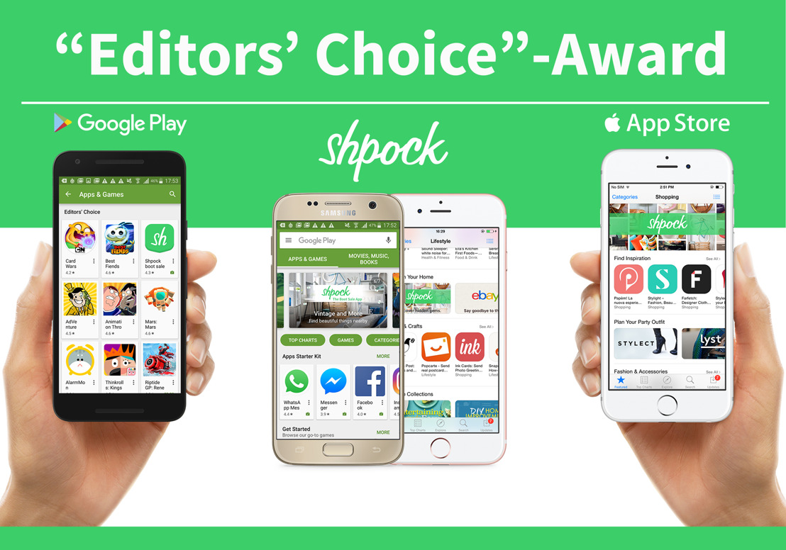 """Editors' Choice"": Shpock receives Google award"