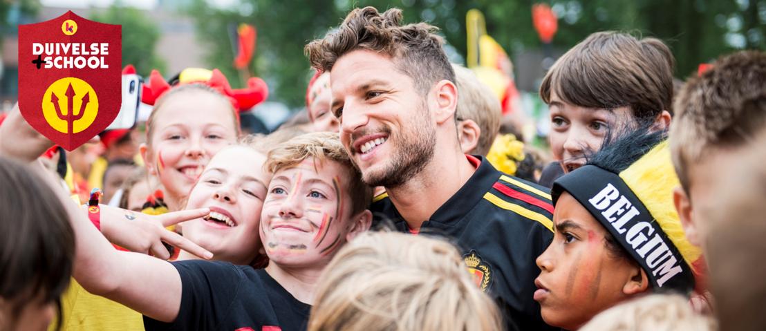 Duivelse +school-actie: Ketnet bezorgde vijf winnende scholen een schitterende dag met de Rode Duivels