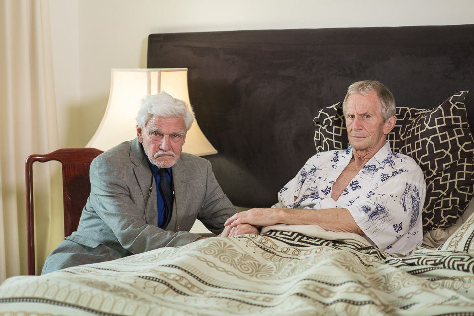Dr Rodney Syme and Bernard Erica (photo credit: Jackie Cohen)
