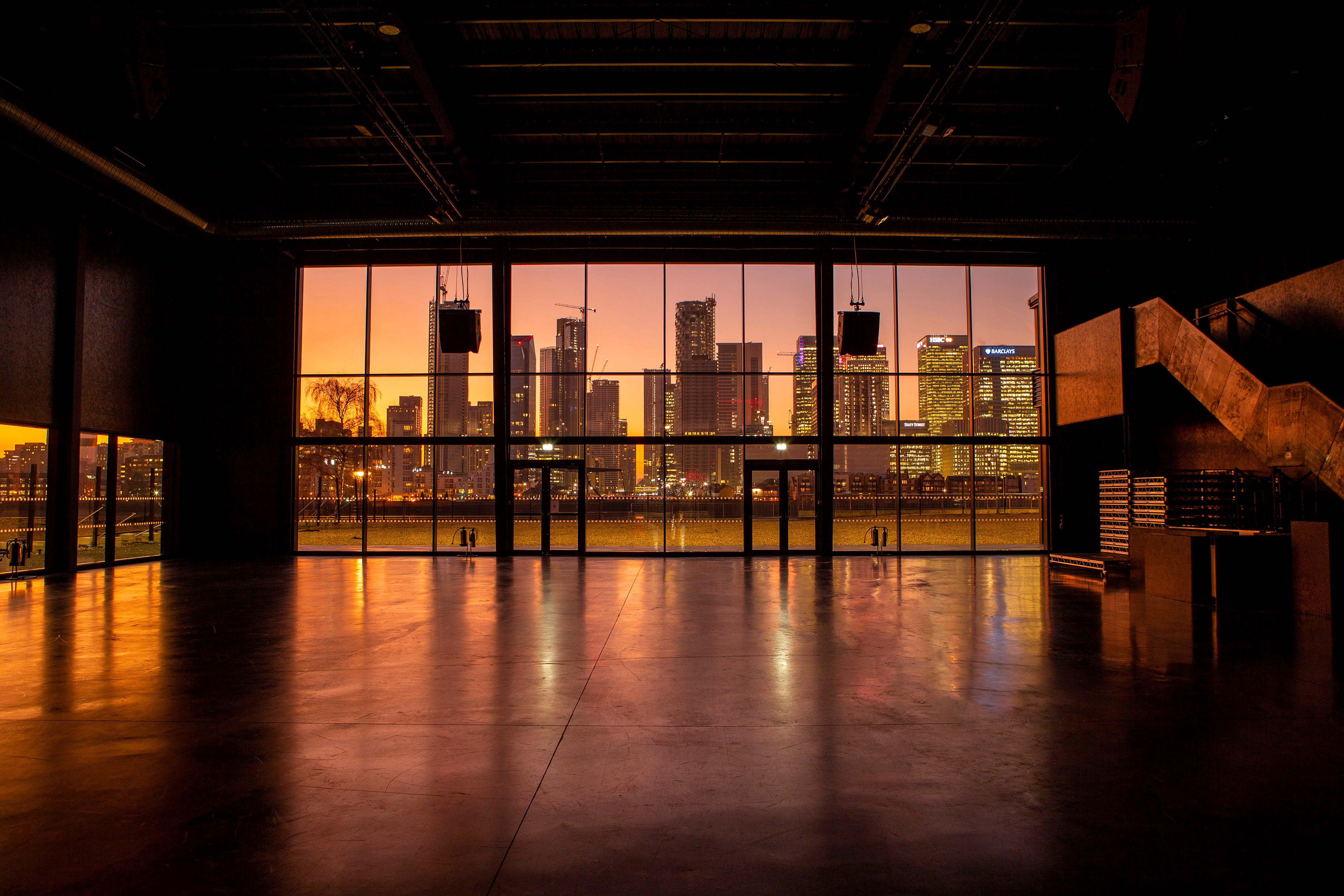 Design London venue Magazine London overlooking Canary Wharf
