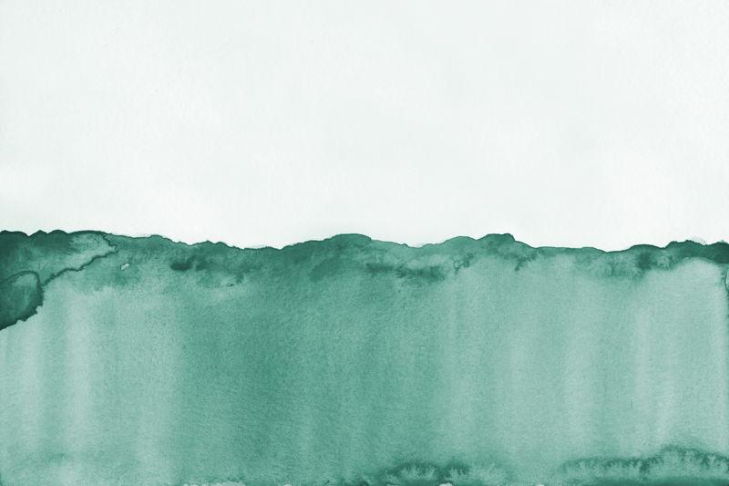 Green Watercolour Wave