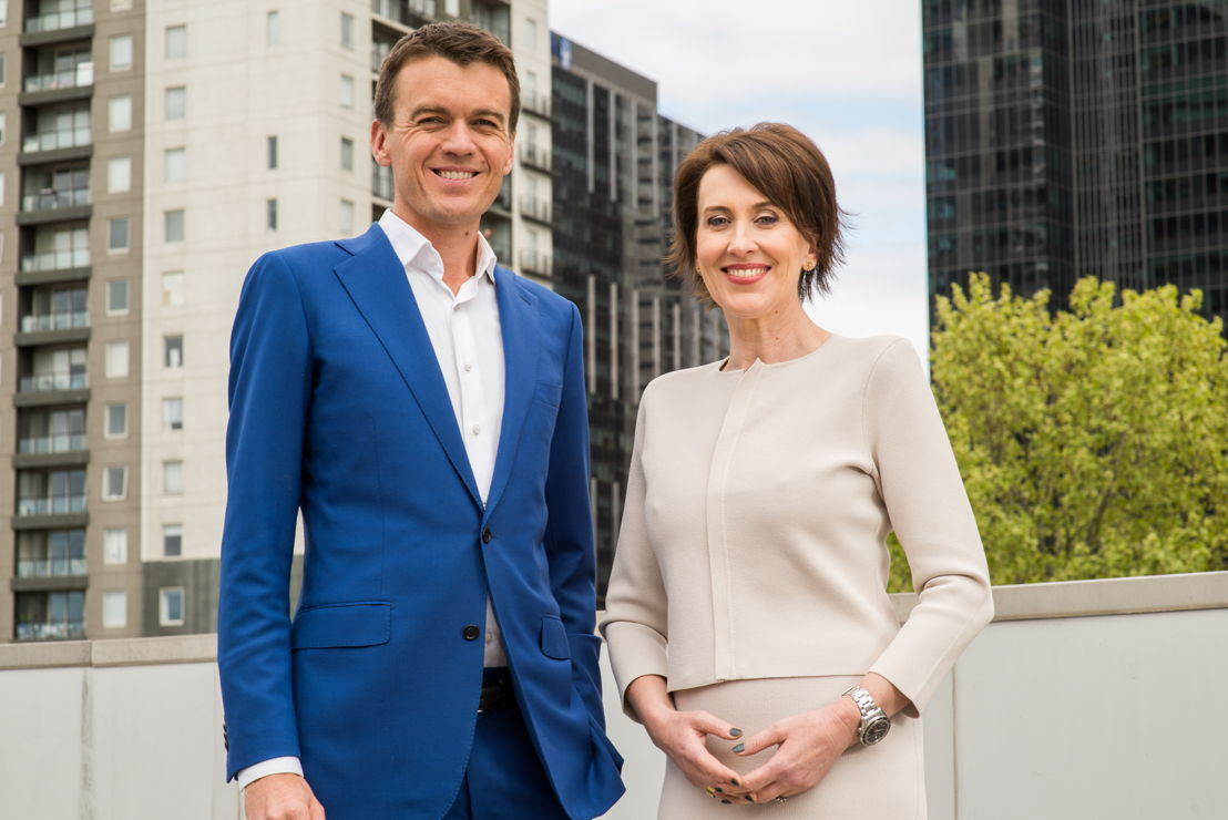 Michael Rowland & Virginia Trioli, hosts of ABC News Breakfast
