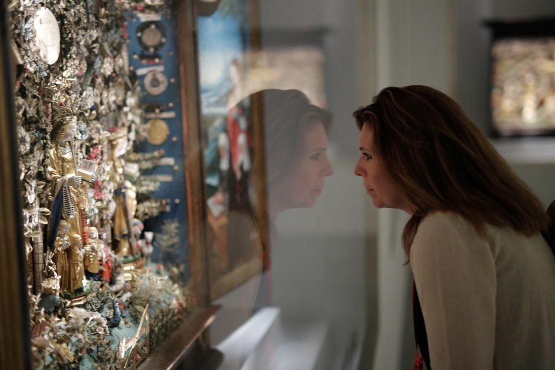 Oog in oog met de prachtige besloten hofjes in de tentoonstelling 'Op zoek naar Utopia' (c) Rob Stevens