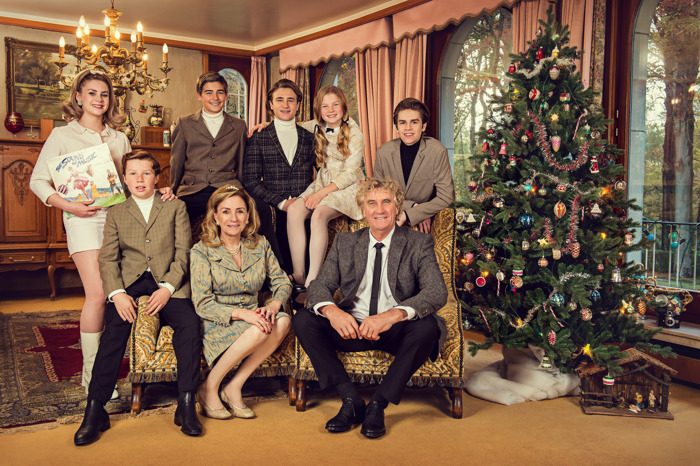 Zo viert de Pfaff-familie kerst in 1965