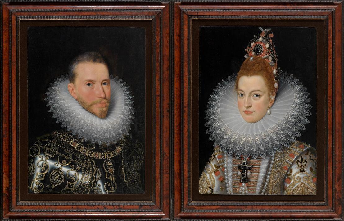 Frans Pourbus II, Portraits de l&#039;archiduc Albert et l&#039;archiduchesse Isabelle, Musea Brugge <br/>© www.lukasweb.be - Art in Flanders vzw, foto Hugo Maertens