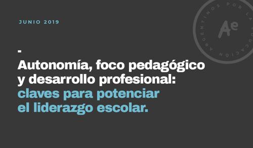 Directores escolares: baja autonomía y escasas oportunidades de desarrollo profesional
