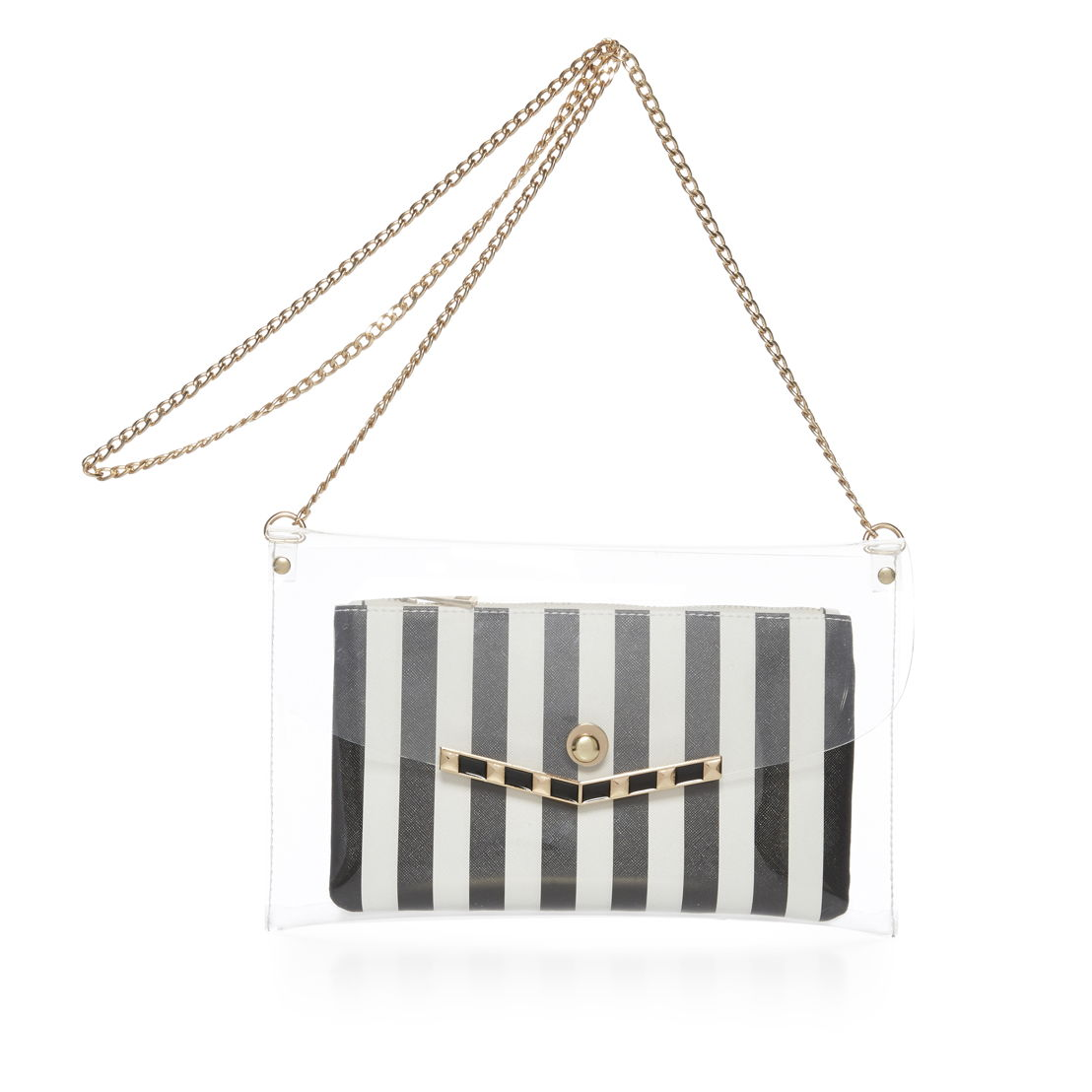 2 in 1 bw stripe bag - €8