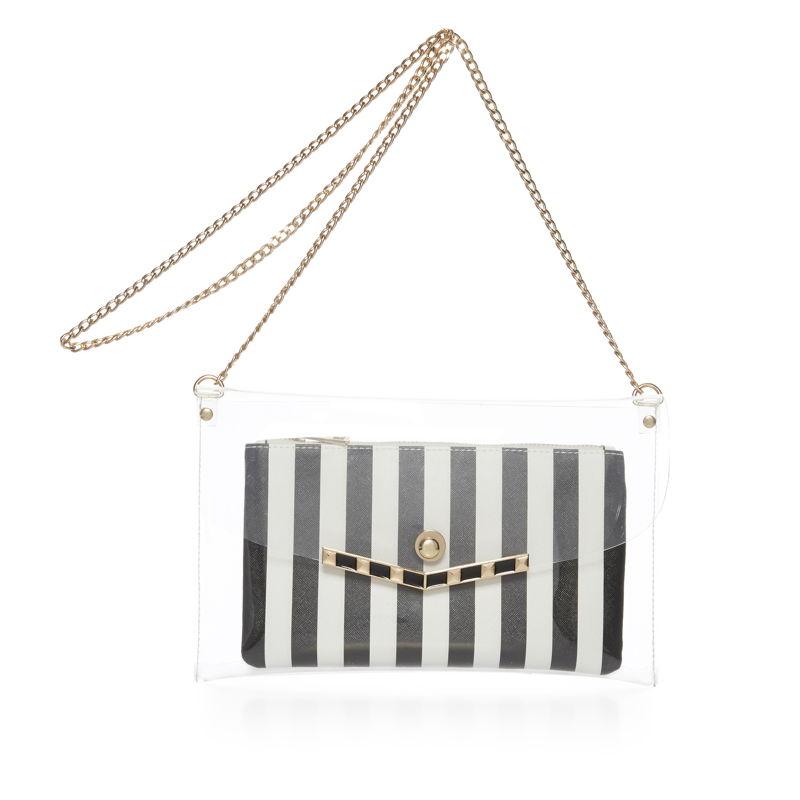 2 in 1 bw stripe bag - €8