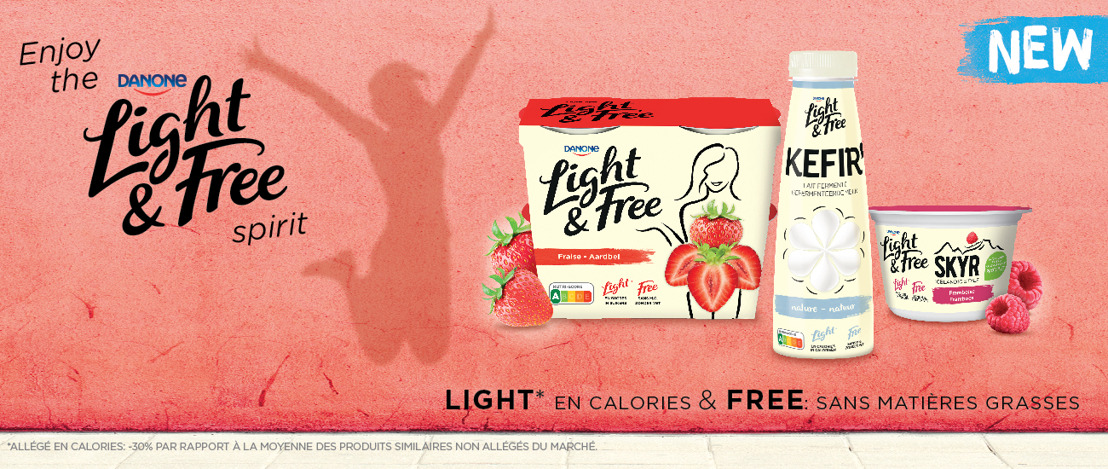 Danone lance une nouvelle gamme de produits laitiers frais avec un Nutri-Score A : Light & Free